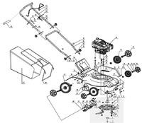 Запчастини до газонокосарки бензинової HYUNDAI-L-4300
