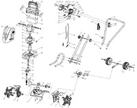 Запчастини до електричного культиватора HYUNDAI T-1500E