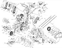 Запчастини до культиватора HYUNDAI T-1000