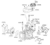 Запчастини до двигуна AL-KO Tech 135 OHV 479802