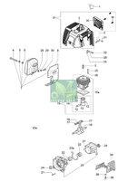 Запчастини до мотокоси Oleo-Mac 741