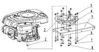 Запчастини до культиватора HYUNDAI T-650