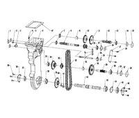 Запчастини до культиватора HYUNDAI T-950