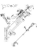 Запчастини до електричного тримера HYUNDAI GC 1400